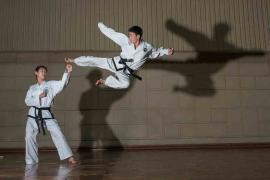#109. PAK MI HYANG, 20, 1st Dan + RA KYONG HUN, 22, 2nd Dan, Taekwondo Stadium.