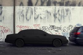Silhouette / Urban Intervention (Black Tape) - Car