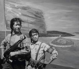 Shi Xinning, On Duty/Robert Smithson Spiral Jetty