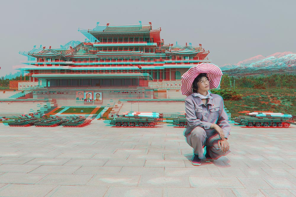 Matjaž Tančič,  #24. RI GYONG SUN, 45, Maintaining Ancient History Section, Folk Park Pyongyang. Pigment Prints Gloss Archival Paper, 60 x 90 cm, 2014